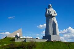 O monumento de Alyosha aos defensores do ártico na segunda guerra mundial Foto de Stock