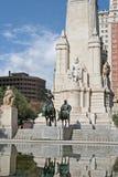 O monumento de Cervantes em Madrid Fotos de Stock