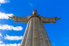O monumento de Cristo Rei de Jesus Christ - Lisboa Portugal fotos de stock royalty free