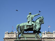 O monumento de Knez Mihailo Fotos de Stock Royalty Free