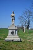 130o monumento de la infantería de Pennsylvania - campo de batalla nacional de Antietam, Maryland Fotos de archivo