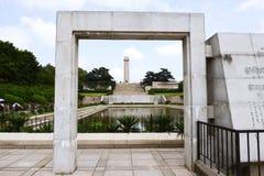 O monumento de Nanjing Yuhuatai Imagem de Stock Royalty Free