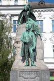 O monumento de Preseren em Ljubljana imagem de stock