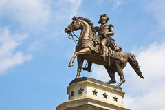 O monumento do Equestrian de George Washington Fotos de Stock
