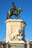 O monumento do rei Jose Eu no Praca para fazer Comercio lisboa portugal foto de stock