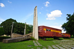 O monumento do trem blindado foto de stock