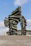 O monumento dos rebeldes Silesian em Katowice Fotografia de Stock