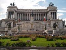 O monumento em Plazza Venezia fotografia de stock