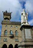 O monumento em São Marino Imagens de Stock