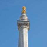 O monumento, Londres Imagens de Stock Royalty Free