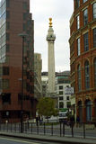 O monumento, Londres, Inglaterra Fotografia de Stock
