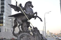 O monumento a Mikhail Kalashnikov Imagens de Stock Royalty Free