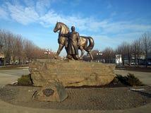 O monumento na cidade de Krivoy Rog em Ucrânia imagens de stock royalty free