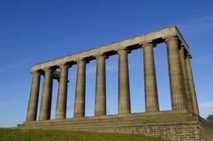 O monumento nacional, monte de Carlton, Edimburgo fotos de stock royalty free
