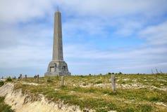O monumento no tampão Blanc Nez Foto de Stock