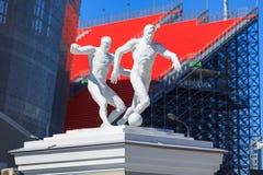 O monumento perto do estádio novo para o campeonato mundial 2018 Imagem de Stock
