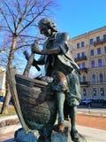 O monumento a Peter a grande construção um navio fotografia de stock royalty free