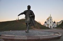 O monumento a Yuri Dolgoruky fotografia de stock royalty free