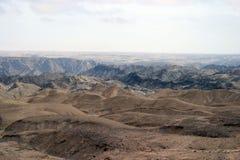O Moonlandscape Namíbia Imagens de Stock