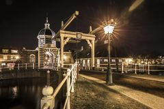 O Morspoort é a porta ocidental da cidade de Leiden Fotografia de Stock Royalty Free