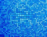 o mosaico azul abstrato com o efeito do inflamento esquadra ilustração stock