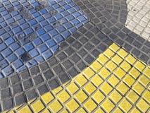 O mosaico de Miro no Rambla fotos de stock