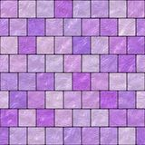 O mosaico de vidro roxo sem emenda gerado contrata a textura Ilustração Royalty Free