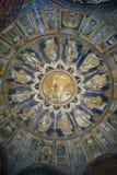 O mosaico do teto do batistério do néon Ravenna, Italy Fotos de Stock Royalty Free