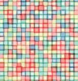 O mosaico esquadra o fundo claro do vetor Imagens de Stock Royalty Free