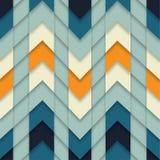 O mosaico geométrico do sumário sem emenda do teste padrão de ziguezague telhou o vetor do fundo Imagens de Stock