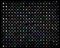 O mosaico holográfico vislumbra a textura Fundo da decoração do partido de disco Luzes multicoloridos no contexto preto ilustração do vetor