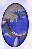 O mosaico no metro Imagens de Stock