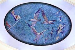 O mosaico no metro Fotografia de Stock Royalty Free