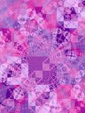 O mosaico roxo esquadra a textura Foto de Stock