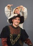 O mosqueteiro e seu musa Fotografia de Stock Royalty Free