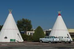 O motel da tenda em Holbrook EUA Fotografia de Stock Royalty Free