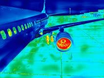 O motor da imagem infravermelha do avião imagens de stock royalty free