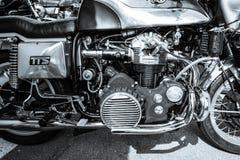 O motor da motocicleta masca o Mammoth TTS 1200 Foto de Stock