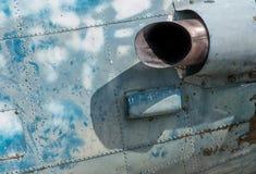 O motor de jato velho dos aviões Imagens de Stock Royalty Free