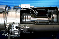 O motor do avião Fotos de Stock Royalty Free