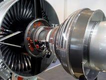 O motor do avião Imagens de Stock