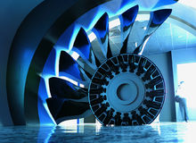 O motor do avião