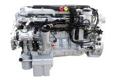 O motor do caminhão pesado isolou-se Imagens de Stock Royalty Free