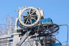O motor do ropeway Fotografia de Stock Royalty Free