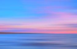 O movimento abstrato borrou o fundo colorido do mar Imagens de Stock Royalty Free