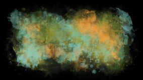 O movimento de pinturas da aquarela filme