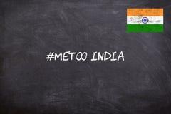 O movimento IMITAÇÃO na Índia começou contra o abuso sexual no lugar de trabalho imagens de stock