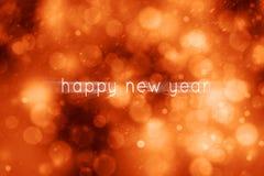 O movimento mágico vermelho borrou o fundo do sumário do ano novo feliz Fotografia de Stock Royalty Free