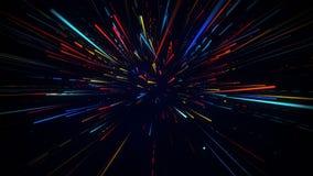 O movimento radial colorido borrou o fundo abstrato dos raios claros Imagem de Stock Royalty Free