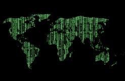 O mundo é matriz Imagens de Stock Royalty Free
